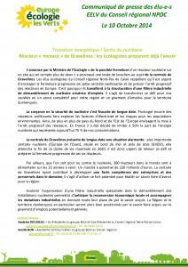 Communiqué Démantèlement Nucléaire - 10oct2014